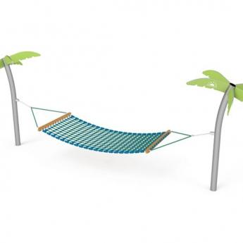 Fémoszlopos függő ágy