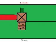 Mászófalas torony homokozóval