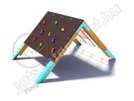 Háromszög mászóka mászófallal
