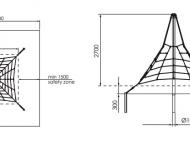 Piramis kötélmászóka 2,7 m