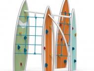 Fém szörf deszkás mászóka kötél hálóval