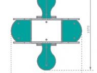 Négy üléses rugós breki