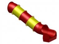 Cső formájú egyenes elemes csúszda - különböző hosszban