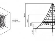 Piramis kötélmászóka 5m